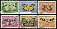 1Cuba 1979 Mi 2397-2402 Moths - CTO