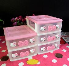 Hello Kitty Desktop Drawer Storage Box Organizer 2 or 3 Layer. for kids room