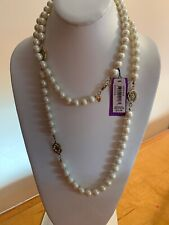 """$75 Carolee Glass Pearls  43"""" Necklace Station  Necklace S161"""