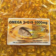 OMEGA 3+6+9 Flaxseed Oil 1000mg ~ 1000 Capsules (1 or 2 per day) FREE POSTAGE