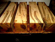 "FOUR (4) AMBROSIA MAPLE TURNING BLOCKS LUMBER LATHE CARVE WOOD 3"" X 3"" X 12"""