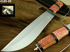 "ALISTAR 12"" HANDMADE STAINLESS STEEL KNIFE BRASS D-GUARD BOWIE KNIFE TOP (4189-9"