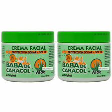 "Baba De Caracol Aloe Facial Cream 3.5 Oz. Crema Facial SPF 15 ""Pack of 2"""