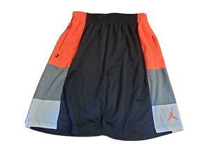 Nike Air Jordan Jumpman Basketball Shorts Black Orange Gray Rare 589109-019