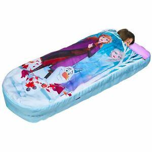 Disney Frozen Prêt Lit Air Filles Bébé Gonflable Soirée Pyjama Sac de Couchage