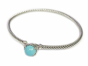DAVID YURMAN Women's Chatelaine Bracelet with Solid Turquoise 3mm NEW
