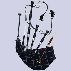 Highland Bagpipes Rose Wood Black Silver Mounts bagpipe (22% off)
