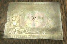 ANTIQUE CHINESE CARVED  MOTHER OF PEARL  PANEL FLORAL HEART