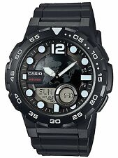 Casio AEQ-100W-1AV Mens Black 100M World Time Digital/ Analog Sports Watch