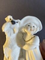Giuseppe Armani Girl with Dog Figurine 3.5 in tall Florence Italy 1995