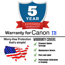 5yr Extended Warranty + Cleaning & Firmware Update for Canon T7i