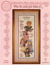 WHAT ARE LITTLE GIRLS MADE OF for Counted Cross Stitch Cross My Heart CSL-51