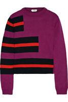 Fendi Striped Cashmere Sweater Violet, Black, Red