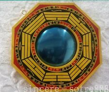 Feng Shui Chinese Pakua Convex Wooden Bagua Ba Guas Mirror for Health Protection
