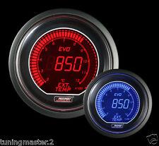 Manometro Strumento PROSPORT 52mm EGT Temperatura Gas Scarico +SONDA K Rosso/Blu