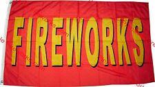 """FIREWORKS"" 3' x 5' Nylon Flag (Red/Yellow)"