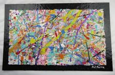 Phil Pierre - BUBBLE GUM 188 - New original abstract acrylic painting on board