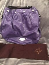 Brand New Mulberry Large Mitzy Hobo In Blueberry Crinkled Patent Leather  £495 28b520c618feb