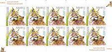 Armenia Flora and Fauna of Armenia Lynx Dinniki Zoo Anniversary Full Sheet MNH
