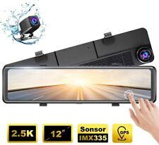 2020 New Akaso DL12 HD 1080P Dash Camera with Gps G-Sensor 2.5K Mirror Dash Cams