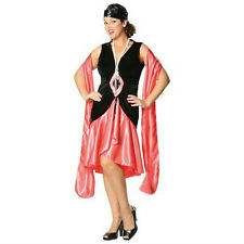 Puttin' on the Ritz Adult Swing Costume Flapper Dress Coral XL