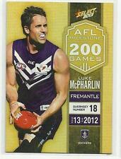 2013 AFL SELECT CHAMPIONS MILESTONE GAME MG23 Luke McPharlin Fremantle CARD