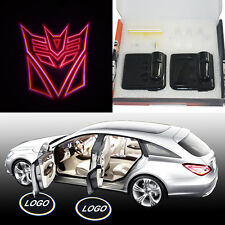 2x Red Transformers Decepticons Car door LED logo projection shadow ghost light