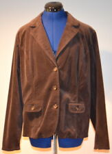 COVINGTON Women's Suede Blazer (Java) Large - NEW WITH TAG