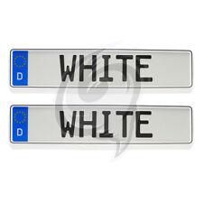 2x Brilliant Weiß Kennzeichenhalter Fiat Panda+Punto+Scudo+Marea+Ducato+Scudo