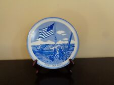 Fort McHenry Collector Plate Birthplace of Star Spangled Banner - Blue & White