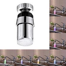 7 Farbe Farbwechsel LED Licht Wasserhahn Wasser Armatur Aufsatz Dekor für Küche
