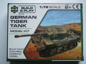 PADGETT BROS 1:72 Scale GERMAN TIGER I TANK MODEL KIT - 6215