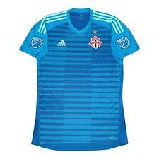 Toronto FC MLS Adidas Men's Aqua Blue AdiPro Short Sleeve Goalkeeper Jersey