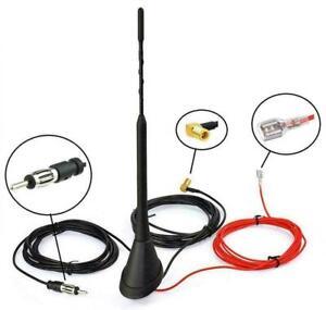 Car Universal Roof Mount Active Amplified DAB + FM Radio Aerial Antenna Mast