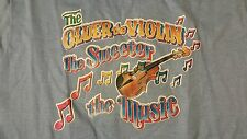Vintage 80s Older Violin Sweeter Music Age 55 Birthday Iron-On T-Shirt Funny