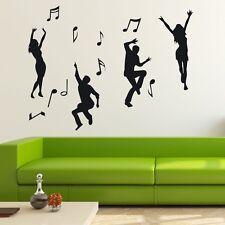 Dancer and Music Notes Wall Decor Home Vinyl Decal Sticker Art DIY Mural