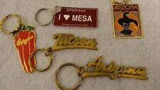 """Arizona"" Themed Key Chains Pack of  5 Vintage (80's) Unused ! Old Inventory"