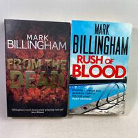 2 Mark Billingham Paperback Books Bundle - From The Dead & Rush of Blood