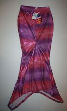 New Justice Shimmer Pink Scales Mermaid Tail Swimsuit Cover-Up Size Medium NWT