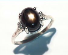 Star Sapphire (black) Natural genuine Gemstone in Sterling Silver Ring,RSS,500