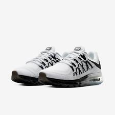 Nike Air Max 2015 Running Shoes White Black Gradient CD7625-100 Men's NEW