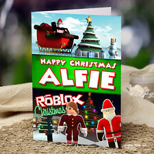 ROBLOX Personalised Christmas Card!  FREE 1st Class Shipping!  CHRLAS16