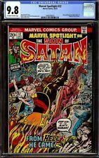Marvel Spotlight 12 CGC 9.8 OWW 2nd Appearance Son of Satan & Origin 1973