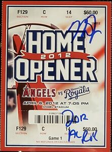 Mike Trout 2012 AL ROY signed Angels 2012 Home Opener ticket PSA Encapsulated #2