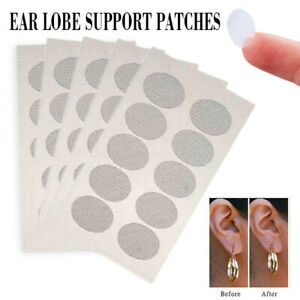 60x Ears Lobe Earring Support Invisible Patches Anti-rips/Tears Skin Stickers
