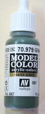 Vallejo Model Color Paint: 17ml German Cam Dark Green 70979 (M097)