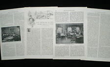 UK PRESS ASSOCIATION & REUTERS NEWS AGENCY JOURNALISM 4pp ARTICLE c1896
