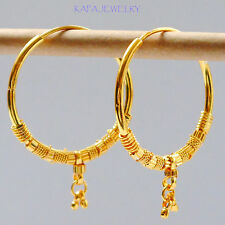 Hoop Earrings.3 cm Indian kapa Style Stunning 22k Yellow Gold Plated Small