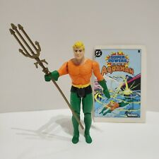 Original Kenner 1984 Dc Super Powers Aquaman Action Figure ~Trident, Mini Comic