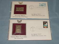 2 First Day Issue Conservation Anniversary 22kt Gold Proof Replicas Duck Stamp